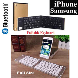 Portable Wireless Bluetooth Keyboard / Smart Phones and Tablets Foldable Keyboard / IOS/ Android/ All match/ Convenient/