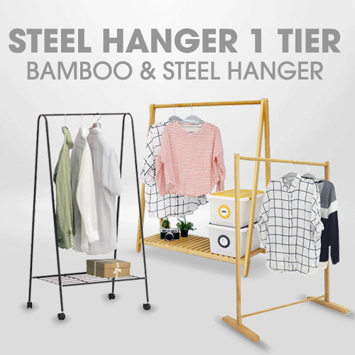 [New Product] Wooden Simple Hangar 1T Deals for only Rp75.000 instead of Rp159.574