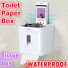 Fully sealed waterproof toilet paper box kitchen roll holder tissue box Bathroom Wall Mounted Holder