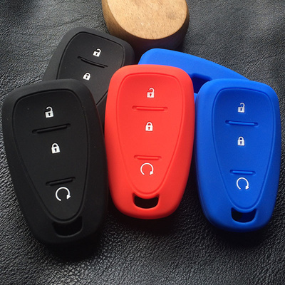 silicone rubber key fob cover case protect bag holder for chevrolet chevy  cruze trax malibu xl