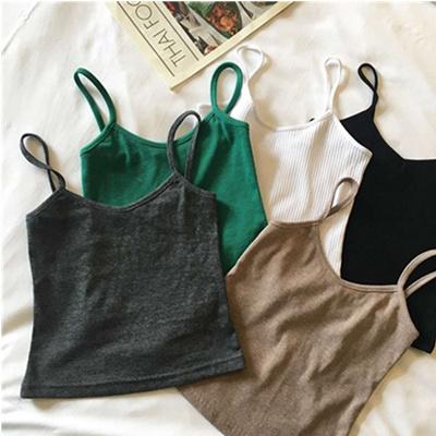 2018 Spring new fashion Slim Mini strap thread vest female student bottom strap