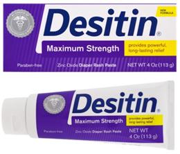 Desitin Diaper Rash Paste Maximum Strength 4 oz (113 g) (Expiry Date: 2023)