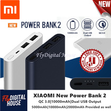 Xiaomi Mi Power Bank Ultra Slim 20000mAh C/NEW10000mAh Gen 2/10000mah Pro/5000mAh