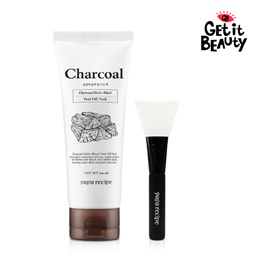 [PAPA RECIPE] ★Charcoal Holic Black Peel Off Pack 100ml Black and White Heads Care★