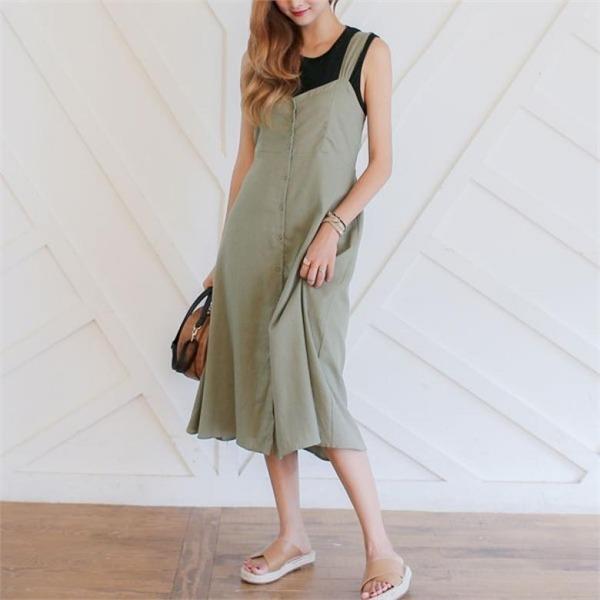 オープニングリボンロングワンピースnew ロング/マキシワンピース/ワンピース/韓国ファッション