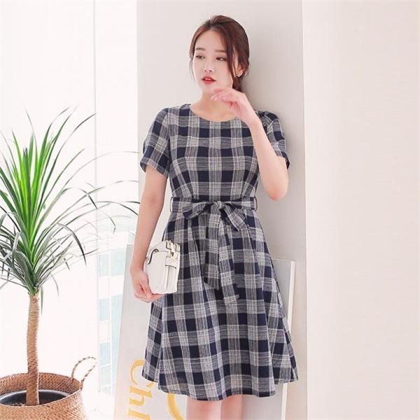 ビックサイズジェイ・スタイルベイブンチェックワンピースnew ミニワンピース/ワンピース/韓国ファッション