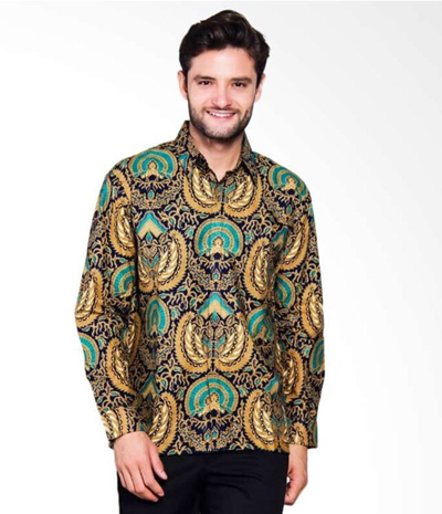 Adiwangsamodel Of Modern Men S Slim Fit 078 Batik Shirt Dress