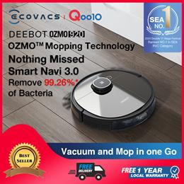 ECOVACS DEEBOT OZMO 920 /RobotVacuum OZMO™Mopping Technology /AppControl /Local Warran