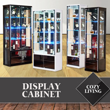 COZY LIVING Display Cabinets at BEST OFFER! Available in Black and White Colours and in Various Models!