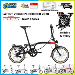 🔥Latest Gen3🔥 Pikes Foldable Bicycle Fold like Brompton 3sixty Foldie CAMP Royale