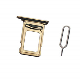 Draxlgon Dual SIM Card Tray Slot Holder Adapter for iPhone Xs MAX 6.5&quot  Gold Dual SIM
