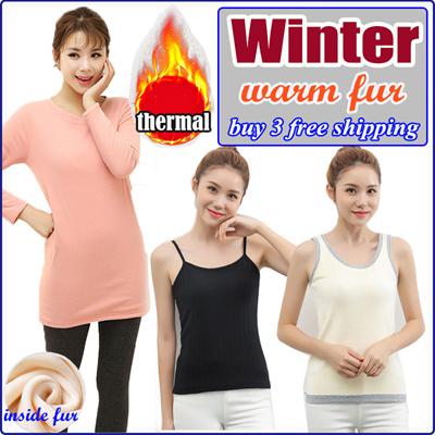 8eca6f57d43cf (Buy 3 free shipping) Women Winter Fur Warm Underwear  Summer Dress  Modal