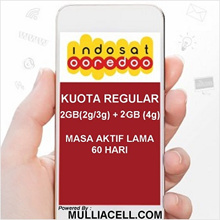 Indosat Regular 4GB (2GB + 2GB 4G) Internet Paket Data / Internet BACA PRODUK/DESKRIPSI [Mulliacell]