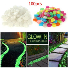 SG Seller 100pcs Glow in the Dark Pebbles Stone Home Garden Walkway Aquarium Fish Tank