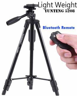 Light Weight Yunteng 5208 Black Edition Monopod Tripod GoPro Hero5 Digital Camera iPhone Xiaomi