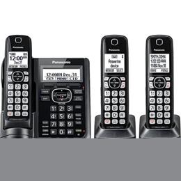 Refurbished Panasonic TGF543B Expandable Cordless Phone with Call Block and Answering Machine, 3 Han