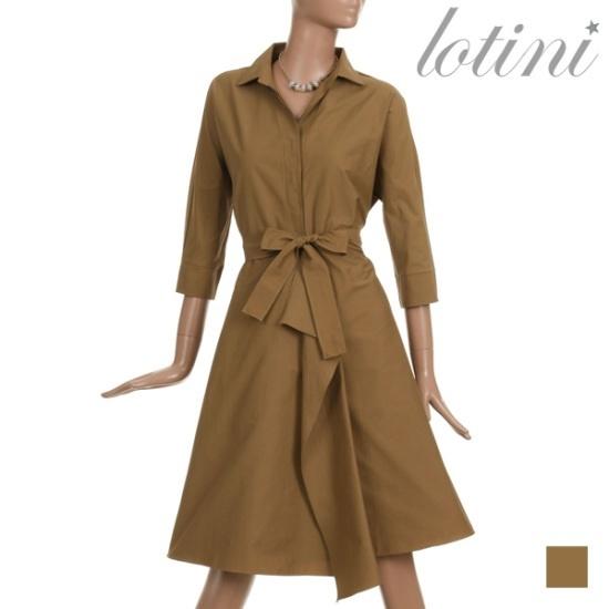 ロティニLOTINIクラシックブイラッフルワンピースLTJOP09 面ワンピース/ 韓国ファッション