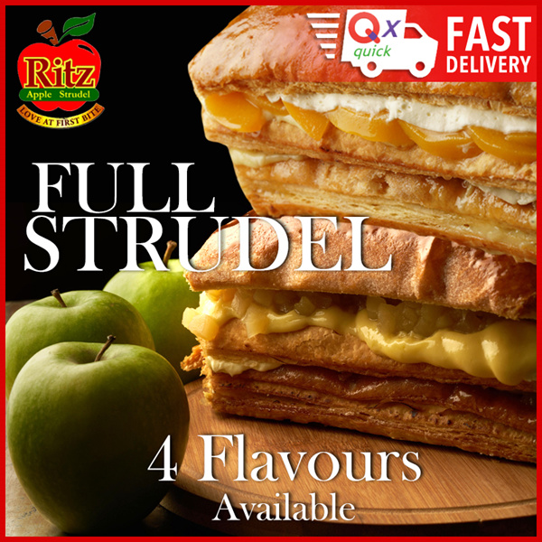 Full Strudel Choose from 4 Flavours: Classic Apple Peach Blueberry or Chocolate Deals for only S$27.5 instead of S$27.5