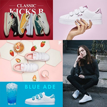 [FILA] ♥ 100% Authentic ♥ FILA Original 20 Type Womens COURT DELUXE Canvas Velcro Sneakers