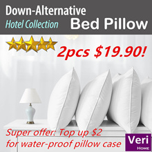 Top-up $2 for Water-proof Pillow Case!【Hotel Supplies!】Filling 1000g and 1400g! Soft n Firm support!