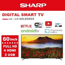 [SHARP OFFICIAL] 60 inch FHD Android LCD TV LC-60LE580X