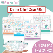 Carton Sale SAVE UP TO 50%  | Absorbs 3x Faster | Free 24pcs diaper