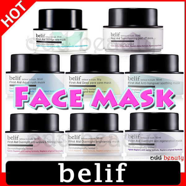 [belif] ALL Mask(First Aid/Eye care/Deep Pore Care/Aqua Rush/Overnight Skin Regeneration/Brightening/Anti-Wrinkle/Soothing/peel off/Peat miracle)/Korea Cosmetics/LG Household-Health Care/Woman/Sample Deals for only S$31.9 instead of S$0
