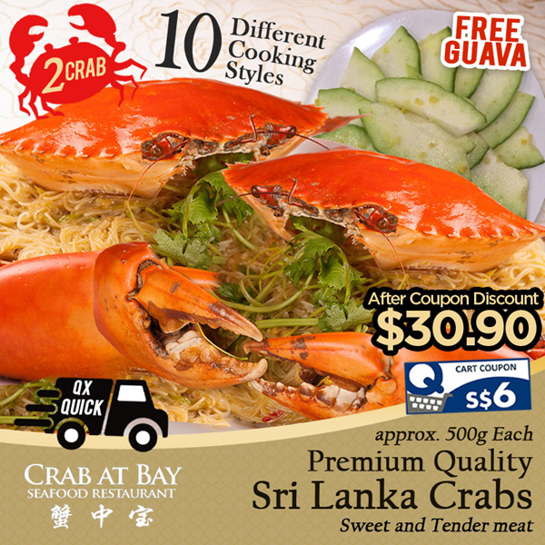 [Crab at Bay] 2 x Sri Lankan Crab Deals for only S$60 instead of S$0
