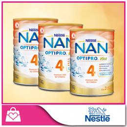 Bundle of 3 PROMO!!![Nestle]NAN® OPTIPRO® Kid 4 Growing Up Milk 1.8kg x 3