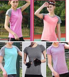 Lady Women Sports Yoga Zumba Aerobics Running Jogging GYM Top Tee Shirt 9099