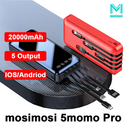 mosimosi PowerBank with stand 20000mAh/10000mAh 2A charge 5 Device in Same Time 3 months warranty