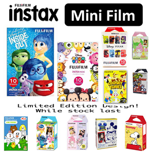 LIMITED EDITION DESIGN ONLY Fujifilm Instax Mini Cartoon Avenger Frozen Line Pixar