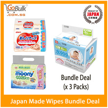 Best *JAPAN* Baby  Wipes/Pigeon 80s(18pack) /L.E.C everyday 80s(24 packs) / Moony 80s(24 pack)