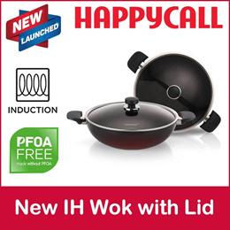 HappyCall Kitchen Titanium Induction Pot Pan IH Party Wok Partywok Lid 32 cm