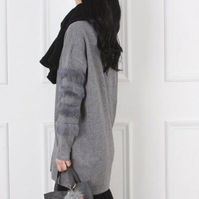 [Bikini#] Fox fur knit