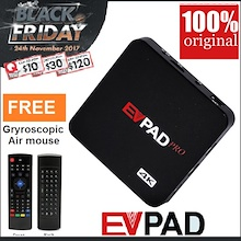 Use $30 Coupon + Free $10/$30 NTUC voucher: EVPAD 2s+ Pro+ Plus Live TV 3000+! Youtube !Tons of VOD