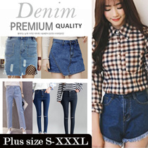 【Denim 】★Top style Slim Women Shorts  / Long Pants ★ S-XL SIZE ★ PLUS SIZE ★ Stretchable Trouser