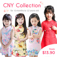 CupKidsLove❤31 Dec New❤1-12Y❤CNY / Racial harmony / CheongSam / Qipao / Traditional Erthnic clothing