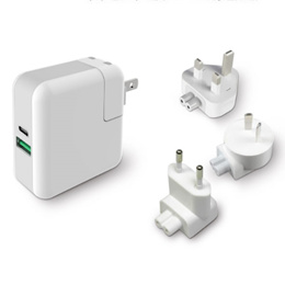 PD+QC3.0+USB multifunctional Travel charger For New Macbook NINTENDO SWITCH Huawei matebook oneplus