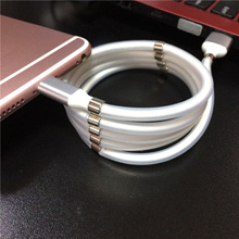 USB magnetic attraction magic rope storage data cable type-c Android mobile phone charging cable