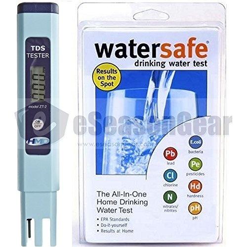 [S$75.90](▼6%)ZT-2 + WS-425B City, HM Digital TDS ppm Tester Watersafe Drinking Water Test Kit