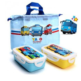 Tayo 2tier lunch box with pouch set / kids lunch box