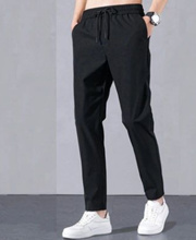 Spring and summer thin loose casual pants mens large size straight pants student sports pants youth Korean trousers