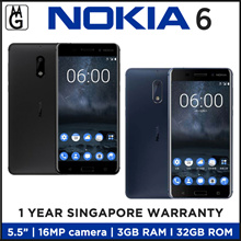 NOKIA 6 l 3GB RAM l 32GB ROM l Android 7.1.1 l 5.5 1080p full HD Display l1 Year Local warranty