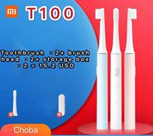 Mi 2020/Electric Toothbrush T100/1+1+Toothbrush head (2pcs)+Travel box (2pcs)/US$15.2/pcs