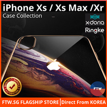 [FLASH SALE!!] iPhone Xs Max / Xs / XR Ringke Case X-Doria Casing Cover 🌟Japan Asahi Tempered Glass