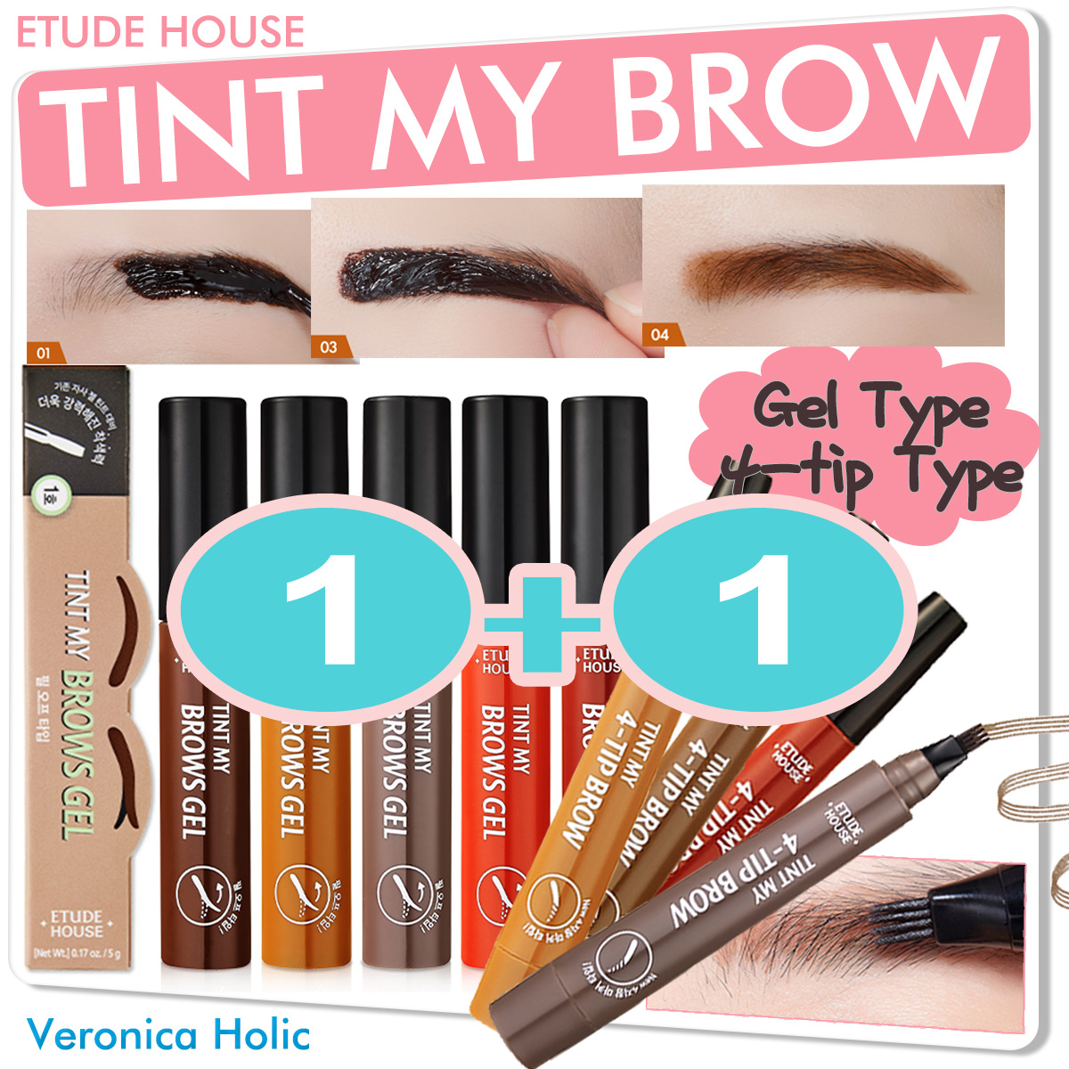 Qoo10 Etude House Brow Cosmetics Drawing Eyebrow New Buy 1 Get Fit To Viewer