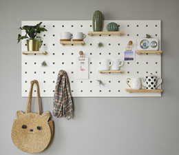 Peg Board Nordic Scandinavian Design Home Wall Shelf Organization