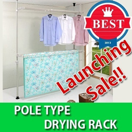 ★Pole Type Laundry Drying Rack★/★Cheap★ CNY / New Year/[In Singapore] / expandable hanger/ fold