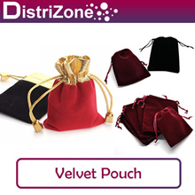 [LOCAL SELLER - FAST DELIVERY] Small/Big/Super Big Drawstring Black Velvet/Organza Pouch (Wholesale)